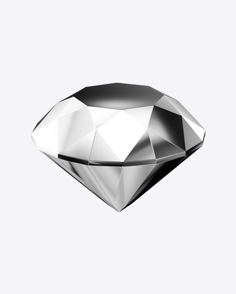Faceted Silver Stone