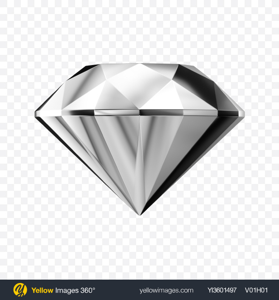 Download Faceted Silver Stone Transparent PNG on Yellow Images 360°