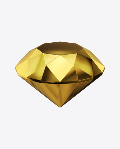 Faceted Golden Stone