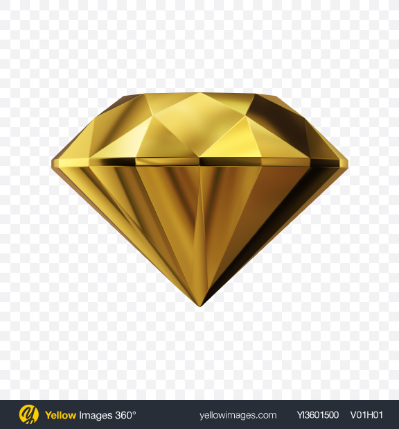 Download Faceted Golden Stone Transparent PNG on Yellow Images 360°