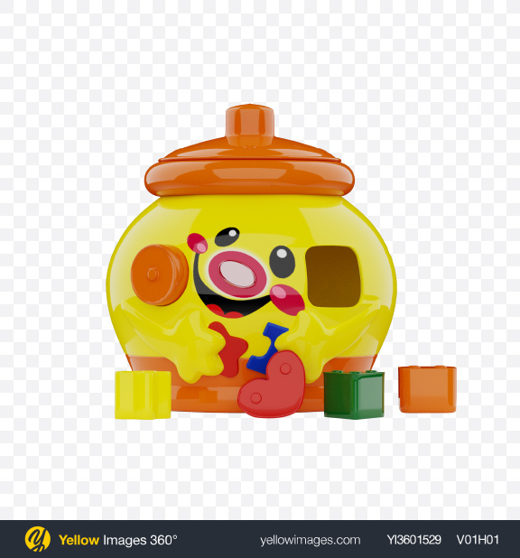 Download Head Shape Sorter Toy Transparent PNG on Yellow Images 360°