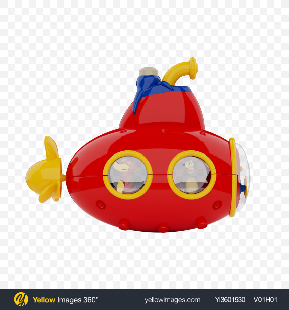 Download Submarine Toy Transparent PNG on Yellow Images 360°