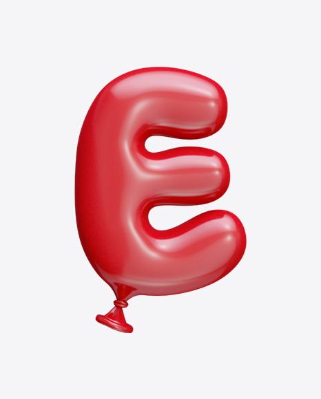Letter E Balloon