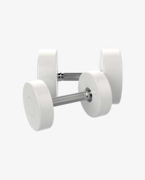 Big and Small White Dumbbells