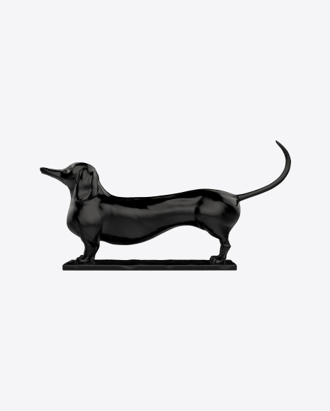 Black Dachshund Sculpture