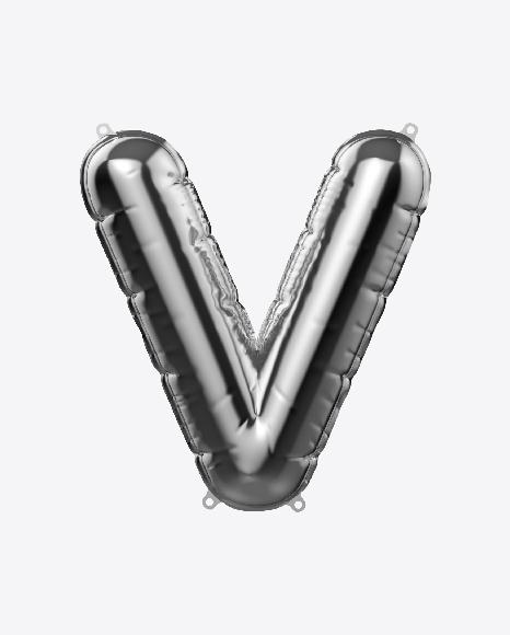 Letter V Foil Balloon