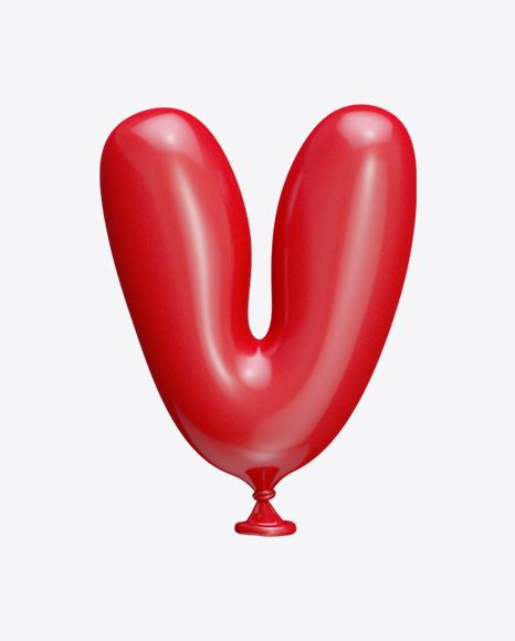 Letter V Balloon