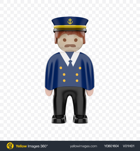 Download Toy Captain Figure Transparent PNG on Yellow Images 360°