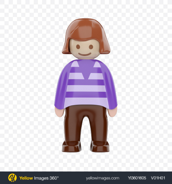 Download Toy Girl Figure Transparent PNG on Yellow Images 360°