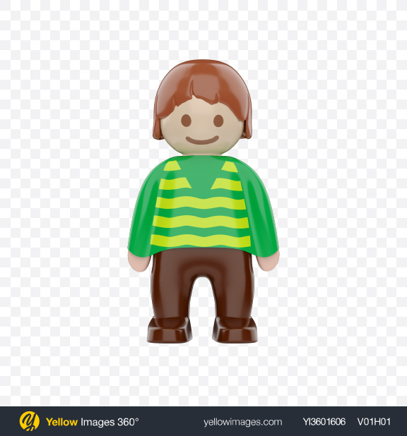 Download Toy Boy Figure Transparent PNG on Yellow Images 360°