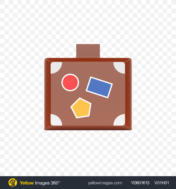 Download Plastic Toy Suitcase Transparent PNG on Yellow Images 360°