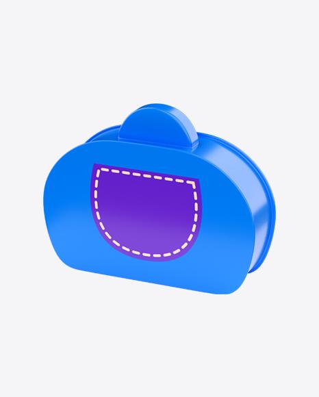Blue Plastic Toy Suitcase