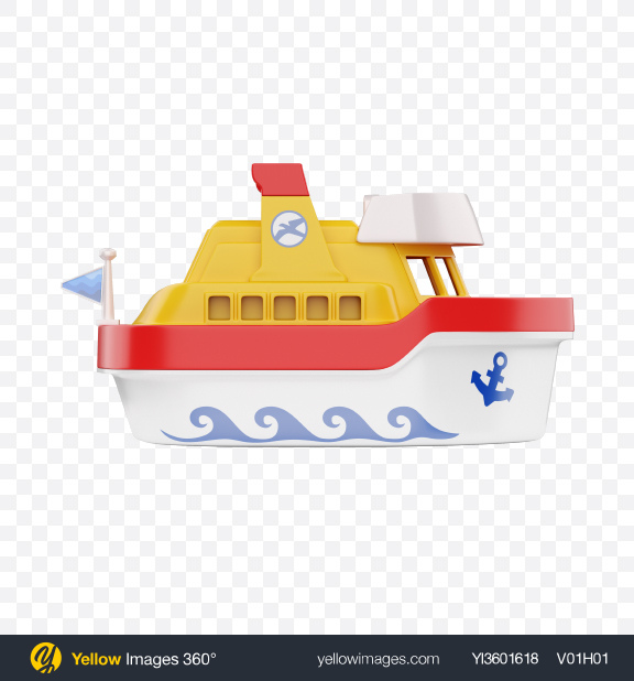 Download Plastic Ship Toy Transparent PNG on Yellow Images 360°