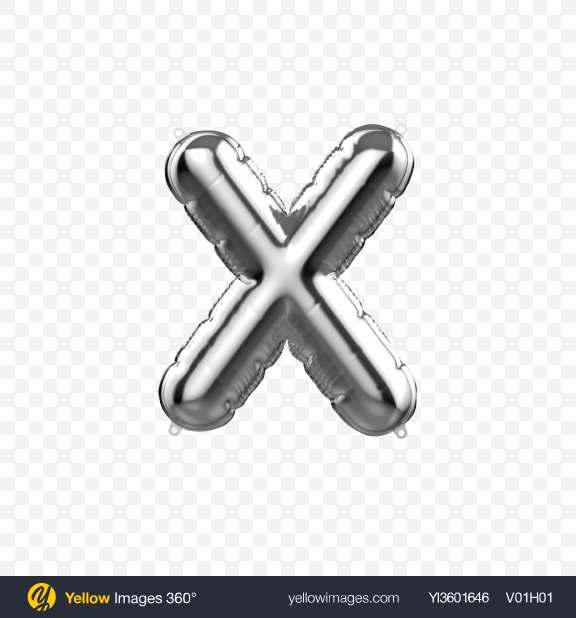 Download Letter X Foil Balloon Transparent PNG on Yellow Images 360°