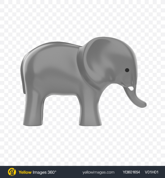 Download Plastic Elephant Toy Transparent PNG on Yellow Images 360°
