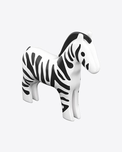 Plastic Zebra Toy