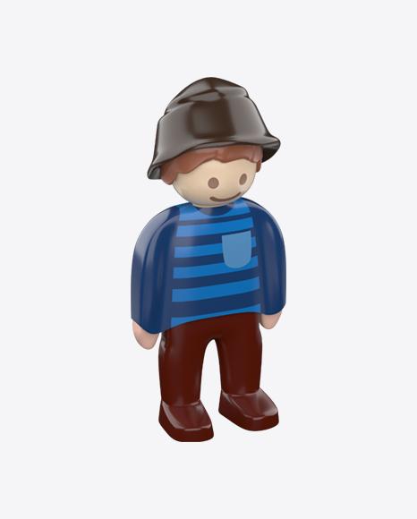 Toy Boy Figure in Hat