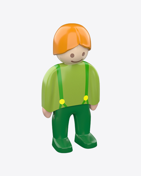 Toy Boy Figure in Green Clothes