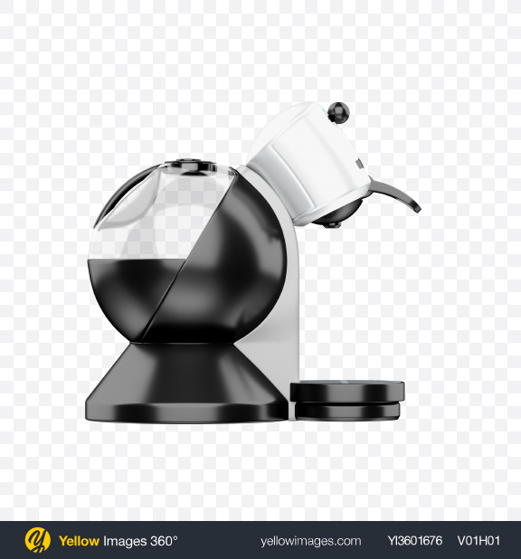 Download Coffee Capsule Machine Transparent PNG on Yellow Images 360°