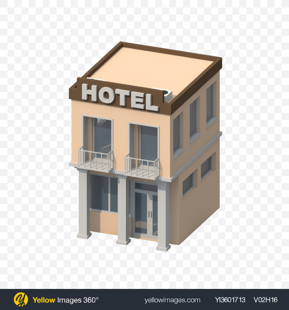 Download Low Poly Hotel Transparent PNG on YELLOW Images