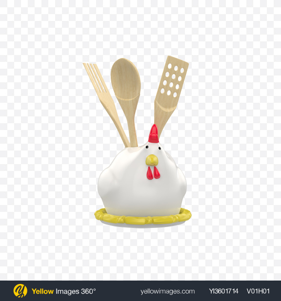 Download Holder with Kitchen Utensils Transparent PNG on YELLOW Images