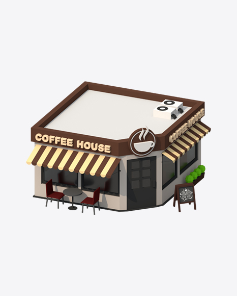 Low Poly Coffee House