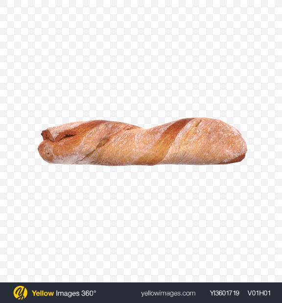 Download Twisted Ciabatta Bread Loaf Transparent PNG on Yellow Images 360°
