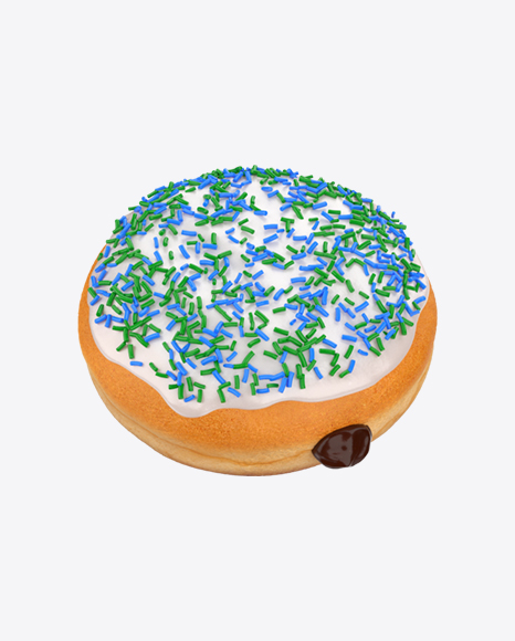 Boston Cream Donut with Sprinkles