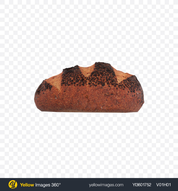 Download Round Bread with Chia Seeds Transparent PNG on Yellow Images 360°