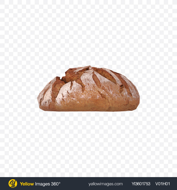 Download Round Bread with Seeds Transparent PNG on Yellow Images 360°