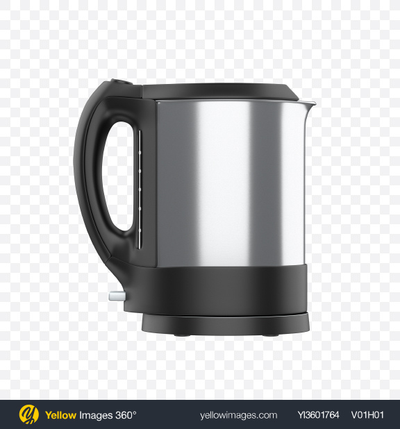 Download Electric Kettle Transparent PNG on Yellow Images 360°
