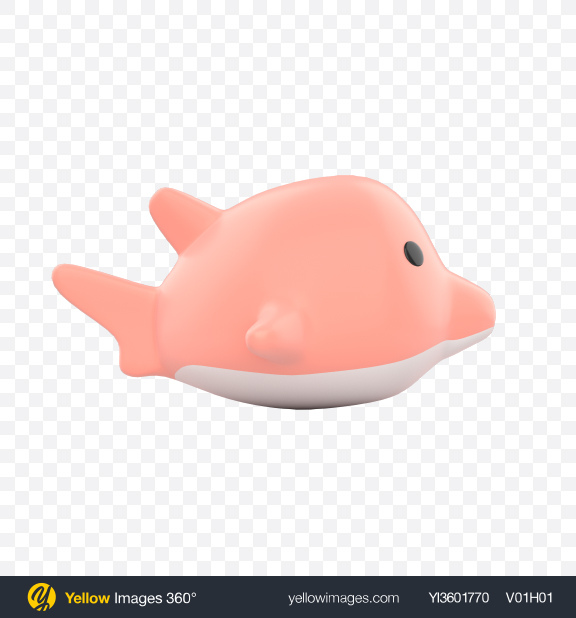 Download Floating Pink Dolphin Bath Toy Transparent PNG on Yellow Images 360°