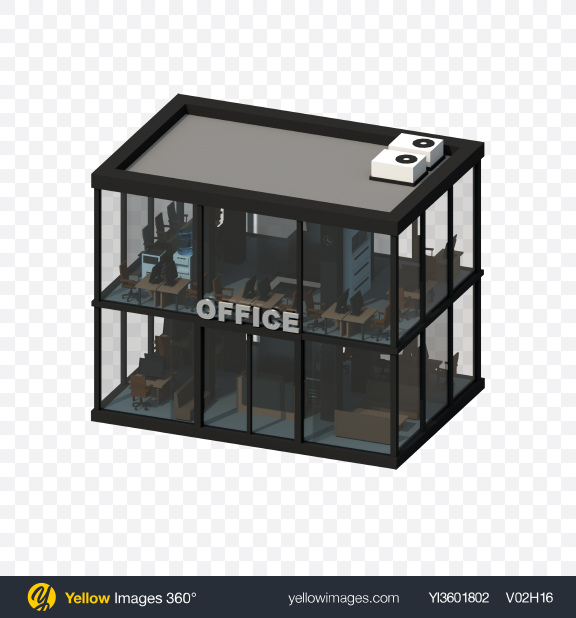 Download Low Poly Office Building Transparent PNG on Yellow Images 360°