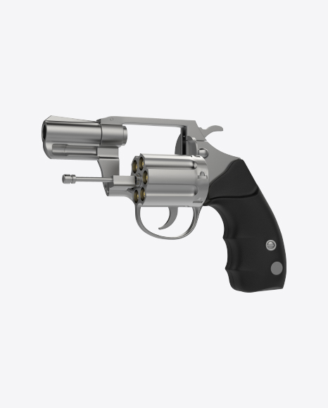 Steel Revolver With Open Cylinder