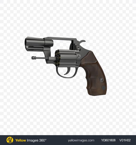 Download Black Revolver With Open Cylinder Transparent PNG on PNG Images