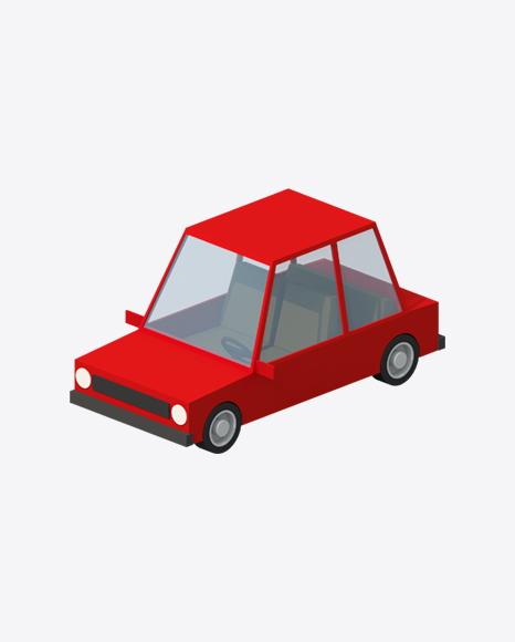 Low Poly Red Car