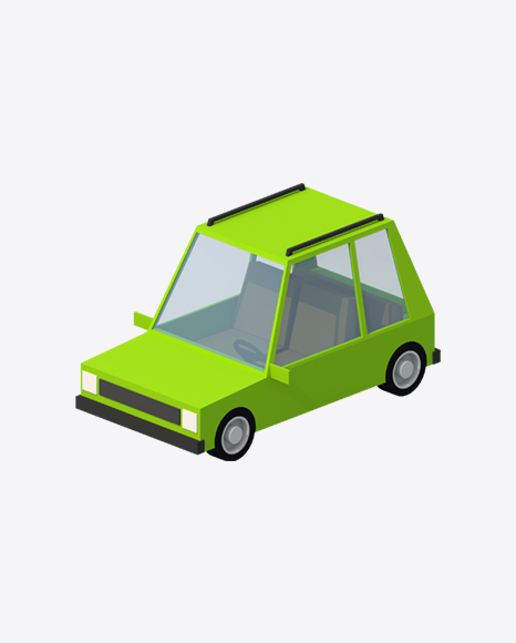 Low Poly Green Car