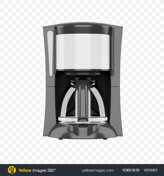 Download Brew Filter Coffee Maker Transparent PNG on Yellow Images 360°