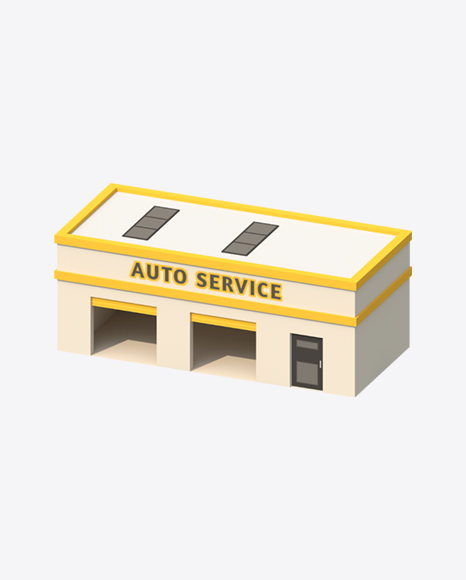 Low Poly Auto Service
