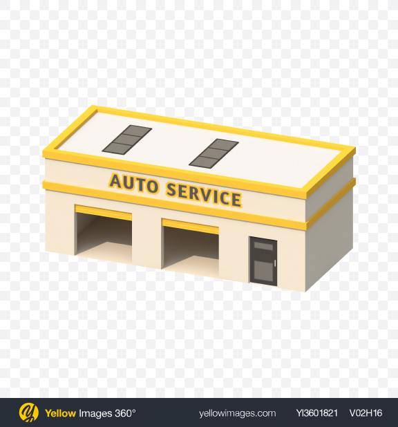 Download Low Poly Auto Service Transparent PNG on Yellow Images 360°