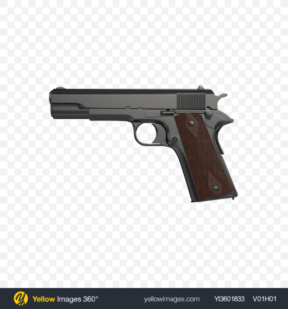 Download Black Gun Transparent PNG on Yellow Images 360°