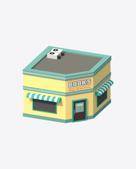 Low Poly Book Shop