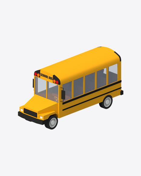 Low Poly School Bus