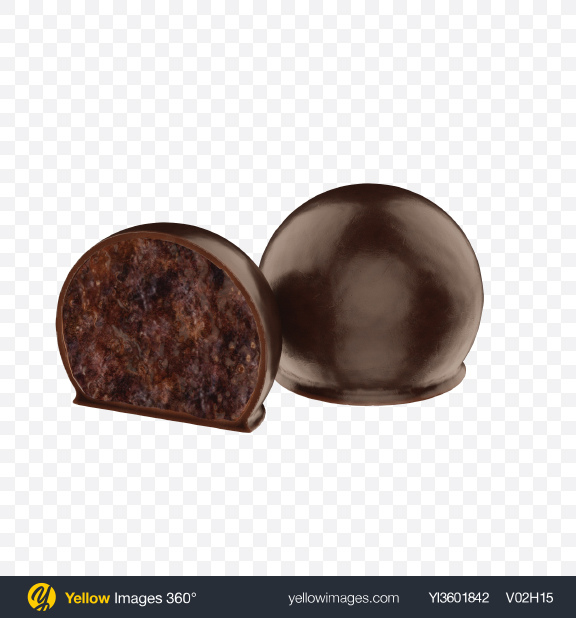 Download Plum with Honey in Dark Chocolate Transparent PNG on Yellow Images 360°