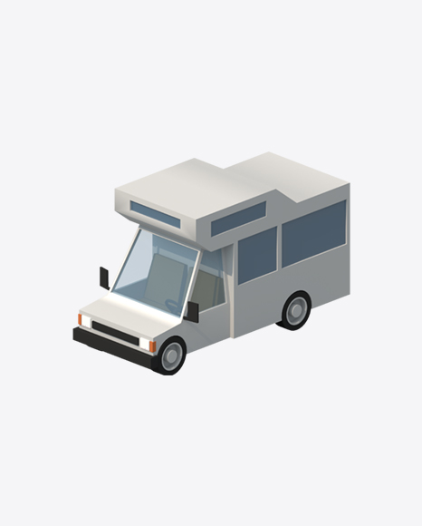 Low Poly Camping Car