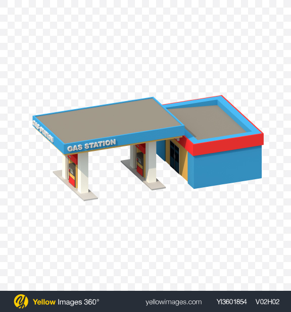 Download Low Poly Gas Station Transparent PNG on PNG Images
