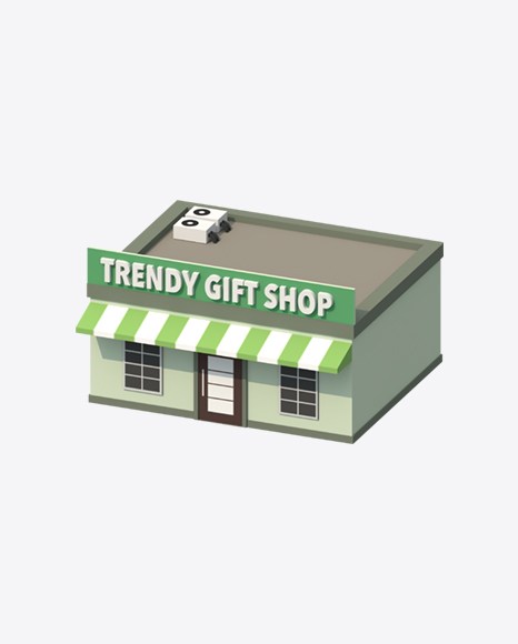Low Poly Gift Shop