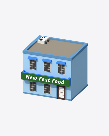 Low Poly Fast Food Restaurant
