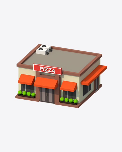 Low Poly Pizza Restaurant