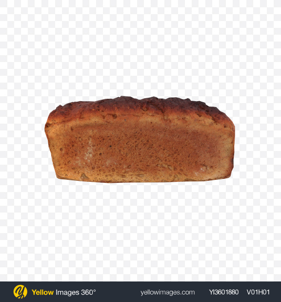 Download Rye Bread Loaf Transparent PNG on Yellow Images 360°